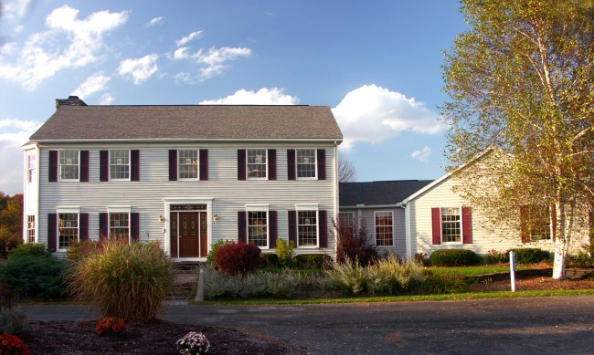 The Home Store's Whately 1 two-story at it's model home center.